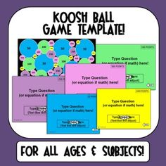 Koosh Ball Game Template - For ALL ages and subjects!