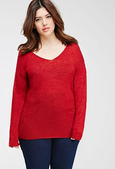 Textured Slub Knit Top | FOREVER21 PLUS - 2000079806