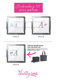 Embroidery 101 for Thirty-One products