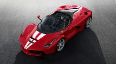 Ferrari is showing the unique design of the 210th and last LaFerrari Aperta set to hit the auction block on Saturday. Proceeds will be directed to charity.