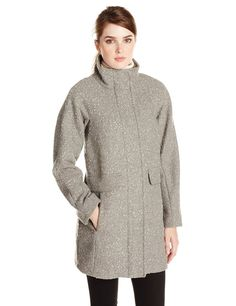 Look chic and fashionable in this Vince Camuto cocoon wool coat. Perfect to pair with a dress, slacks or jeans. Product Features Funnel-collar coat featuring on-seam hand pockets with faux flaps Full-zip closure with snap-over placket Long Wool Coat, Wool Coats, Women's Coats, Vince Camuto, Coats For Women, Wool Blend, Sweaters, Stuff To Buy, Outfits