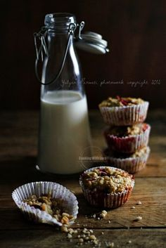 Strawberry Oatmeal And Flaxseed Muffins