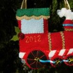 Think we will make one of these for each of the boys next Christmas    Felt Holiday Train Ornament