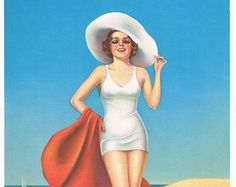 Belle of the Beach Billy DeVorss Calendar Art Print