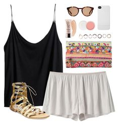 """""""sunny saturday"""" by classically-preppy ❤ liked on Polyvore featuring H&M, VPL, Steve Madden, MANGO, Iosselliani, Incase, Christian Dior, Linda Farrow and Urban Decay"""