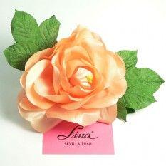 Rosa artificial grande color Salmón Claro PVP: 3,50€