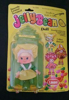 Vintage Lucy Lemon Jellybean Doll Lanard Toys Limited 1981 - NOS - NEW - NIP #LanardToysLimited #Dolls
