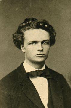August Strindberg (1849-1912). Swedish playwright, novelist, poet & essayist.