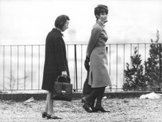 Audrey Hepburn and her son Luca Dotti and his nanny at the public park on Villa Balestra in Rome (Italy) on February 14, 1972.