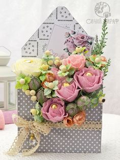 Home Remodel Country . Flower Box Gift, Flower Boxes, Flower Cards, Bouquet Box, Diy Bouquet, Beautiful Bouquet Of Flowers, Diy Flowers, Tropical Flowers, White Flower Arrangements