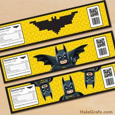 Click here to download FREE Printable LEGO Batman Water Bottle Labels!