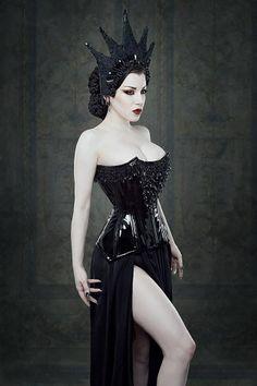 Busty goth girl