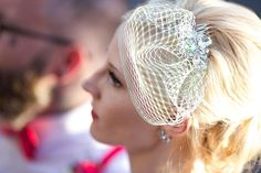Create your own vintage-style birdcage veil at a fraction of the cost that bridal stores will charge you for one with our easy DIY!