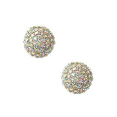 Statement Crystal XL Button Earrings