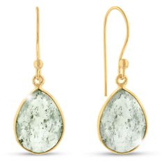 12ct Rutilated Quartz Teardrop Earrings in 18k Gold Overlay: Gorgeous gemstone earrings perfect for any… #DiamondJewelry #DiamondRings