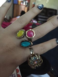 A personal favorite from my Etsy shop https://www.etsy.com/listing/287718569/multicolored-boho-ring-7