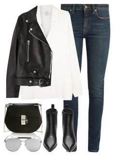 """""""Untitled #2865"""" by elenaday ❤ liked on Polyvore featuring Yves Saint Laurent, Chloé and Acne Studios"""