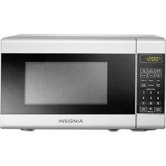 Insignia™ - 0.7 Cu. Ft. Compact Microwave - White - Front Zoom