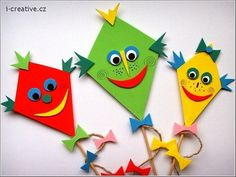 Feinmotorik-Ausgleichsspiel - New Ideas Autumn Crafts, Summer Crafts, Fun Crafts, Diy And Crafts, Arts And Crafts, Paper Crafts, Kite Decoration, Board Decoration, Diy For Kids