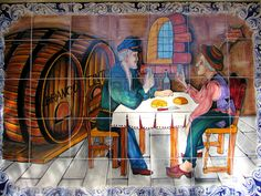A tile mural in Alte.