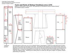 Basic late Byzantine tunic with pants pattern