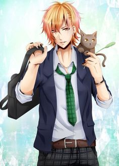 """""""Hello. I'm a cool, calm and collected guy. My name's Hajimé. I love cats and I'm 14. Adopt me?"""""""