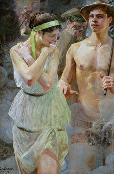"""Jacek Malczewski, """"Polonia"""", 1914, olej na tekturze, 145 x 98,5 cm, fot. pochodzi z prywatnej kolekcji"""