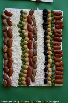 This beans and rice collage may bring to mind George Morrison's 'Culminated Landscape'