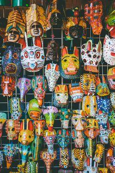 masks from Masaya Market El Camino x Nicaragua 2014  #elcaminotravel // www.elcamino.travel