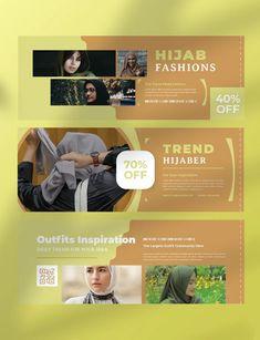 Hijab Fashion Facebook Cover Template AI, PSD Facebook Cover Template, Hijab Fashion, Templates, Stencils, Vorlage, Models