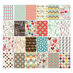 Pattern romantic vintage label sticker set by Nacoo