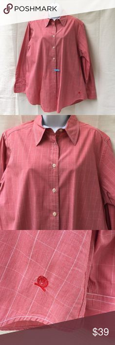 Tommy Hilfiger pink polo shirt 1X woman's ladies Tommy Hilfiger pink button-down shirt. Size 1X plus. Made in Hong Kong. Like new. Pre-loved in excellent condition. Women's Ladies Fashion. Check out my closet, we have a variety of women's, Victoria Secret, handbags 👜 purse 👛 Aerosoles, shoes 👠fashion jewelry, necklace, clothing, dress, Beauty, home 🏡 .  Ships via USPS. Smoke & Pet-Free. Offers 30% OFF bundle discount. Always a FREE GIFT 🎁 with every purchase!!! Thank you. Tommy Hilfiger…
