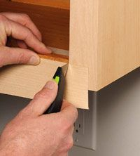 DIY cabinet refacing--look how it is done.