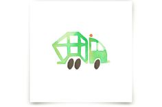 Garbage Truck Art by Jan Dolby at minted.com
