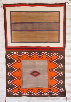Historic Native American Textile : ght 1058 : Double Saddle Blanket - Nizhoni Ranch Gallery Churro Wool