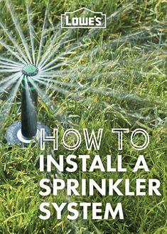 Installing an underground sprinkler is a great way to conserve water and save money on irrigation. This can be a complicated do-it-yourself project, but with the right preparation and materials, it can be completed in a weekend or two.