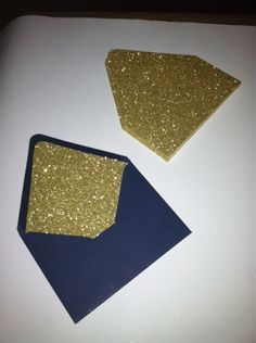 gold glitter lined navy envelopes Perfect Wedding, Our Wedding, Dream Wedding, Wedding Stuff, Gold Sparkle, Gold Glitter, Panty Party, Romantic Themes, Vintage Notebook