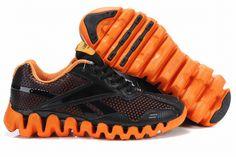 03a807935976 Reebok zigtech trainers black and orange New Jordans Shoes