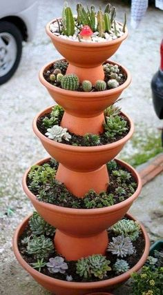 100 Beautiful DIY Pots and Containers Garden Ideas - Diyg schöne DIY Töpfe und Container Garten Ideen – Diygardensproject.live – Wohnaccessoires 100 beautiful DIY pots and containers garden ideas Diygardensproject. Succulent Gardening, Succulents Garden, Garden Pots, Container Gardening, Gardening Tips, Succulent Ideas, Organic Gardening, Gardening Gloves, Vegetable Gardening