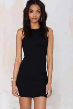 Nasty Gal Hold Tight Cutaway Dress - Going Out | Body-Con | LBD | Solid | Basic | Dresses | Dresses | All | Dresses