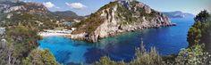 Google+ autoawesome panorama created from my uploaded summer photos Paleokastritsa, Corfu, Greece