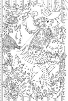 Language : Japanese / 28 x 21 x cm Published : September 25 2017 *Condition :New Introduction I wanted to wear it because it is good at once, it became a gorgeous coloring painting of the longing beautiful clothes Beautiful clothes are alw Witch Coloring Pages, Halloween Coloring Pages, Colouring Pics, Free Coloring Pages, Printable Coloring Pages, Coloring Sheets, Coloring Books, Coloring Pages For Grown Ups, Kids Coloring
