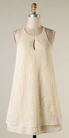 Laurel Tunic Dress in Layered Lace