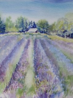 Judith Howard Watercolor ~~ Love the softness of this painting, and the perspective. Wonderful !! ~~ sandpipersong