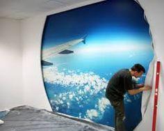 Znalezione obrazy dla zapytania fototapeta niebo samolot na sufit