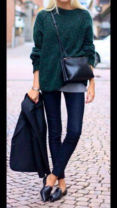 emerald sweater outfit - Google 検索 green knit tops coordinate styling outfit 緑 トップス グリーン ニット コーデ