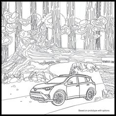 Amazing Colors In The Great Outdoors Get Flow With Pigment Adult Coloring App And Toyota