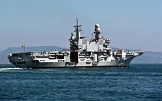 Download wallpapers Cavour, ? 550, aircraft carrier, Italian Navy, sea, large warship, Italy