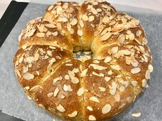 La Brioche Amandine - Patachou, miam-miam et compagnie - Gangrela - Cake Cookies, Bagel, Food And Drink, Pasta, Balance, Galette, Breads, Recipes, Apple Doughnut