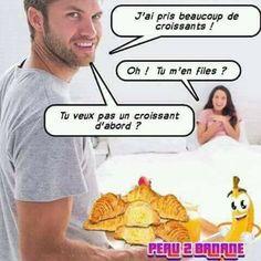 Image drôle, photo drole et videos drôles à découvrir sur VDR - Vendeurs de rêves. Découvrez les meilleures images et photos droles du web ! French Meme, Adult Fun, I Laughed, Funny Pictures, Jokes, Lol, This Or That Questions, Humor, Croissants